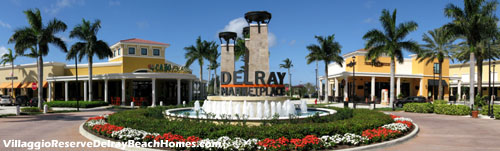 The Delray Marketplace shopping center is convenient to Villaggio Reserve, and offers a variety of upscale shopping and dining options.